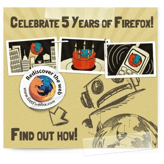 Cinquè aniversari de Firefox