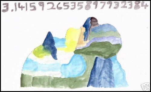 Dibuix de Tammet per representar com veu el número pi