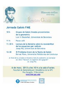 Jornada Curs Galois