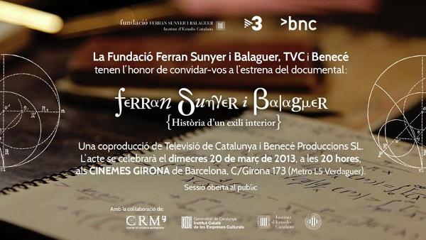 Ferran Sunyer i Balaguer: història d'un exili interior