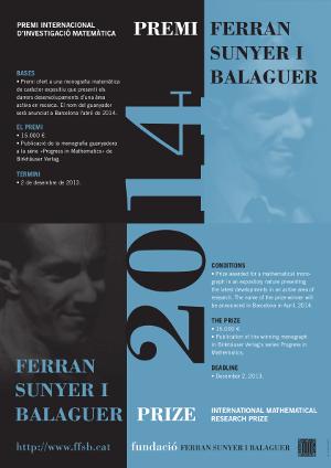 Premi Ferran Sunyer i Balaguer 2014