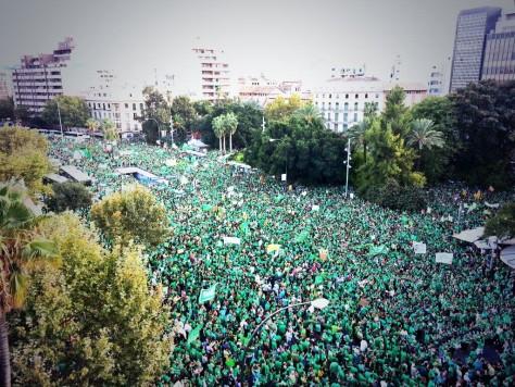 Manifestació contra el TIL