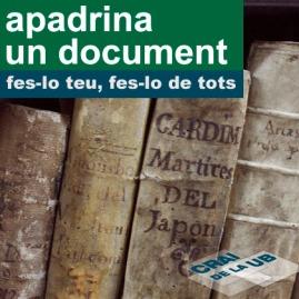 Apadrina un document: fes-lo teu, fes-lo de tots
