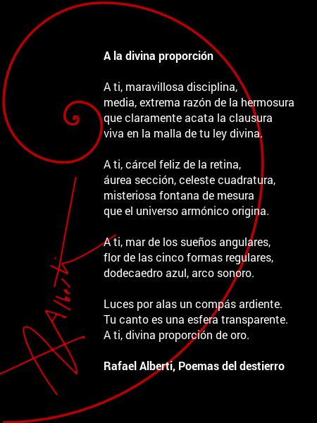 Rafael Alberti, A la divina proporción