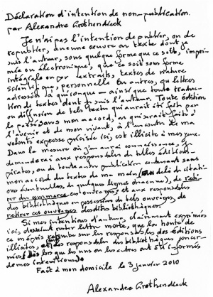 Carta d'Alexander Grothendieck