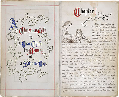 Manuscrit original d'Alice's Adventures in Wonderland