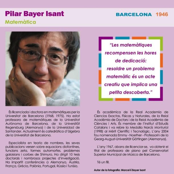 Pilar Bayer a l'exposició «16 científiques catalanes»