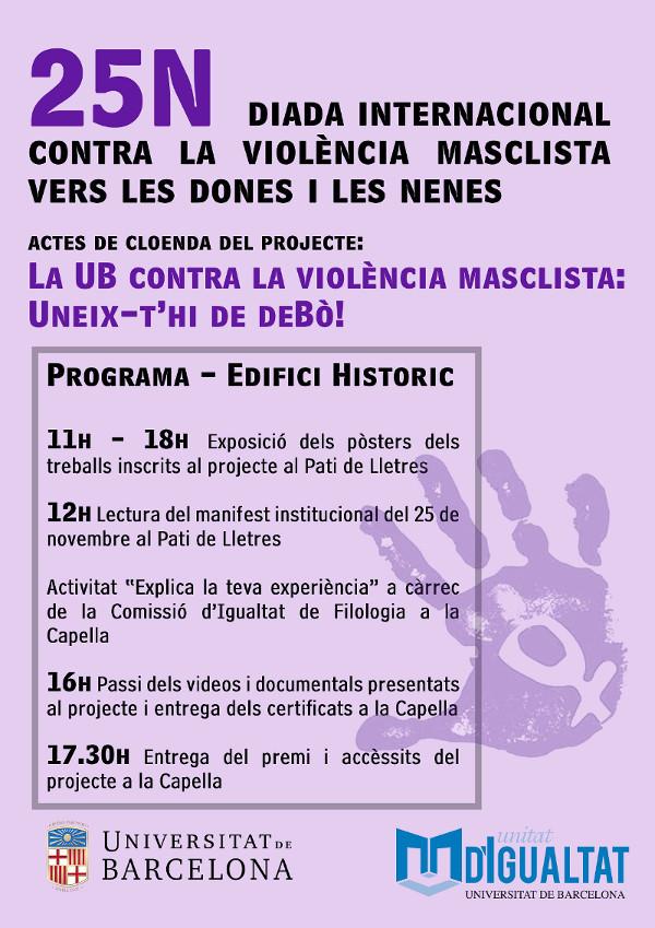 Diada internacional contra la violència masclista vers les dones i les nenes