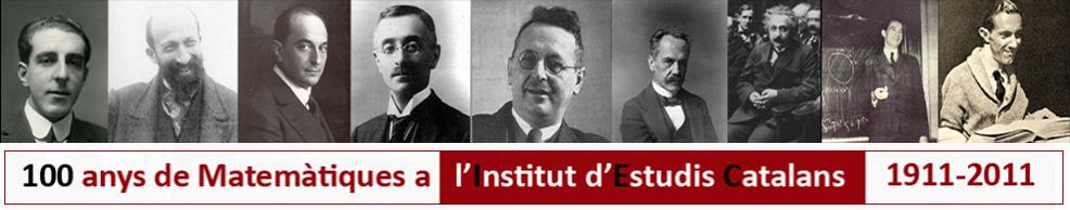 100 anys de matemàtiques a l'IEC