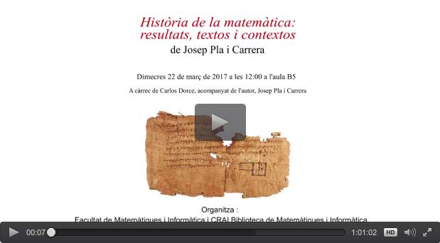 Vídeo de la presentació