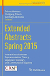 Extended abstracts spring 2015 : interactions between representation theory, algebraic topology and commutative algebra