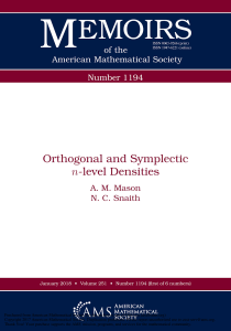 Mason, A.M. ; Snaith, N.C. Orthogonal and symplectic n-level densities