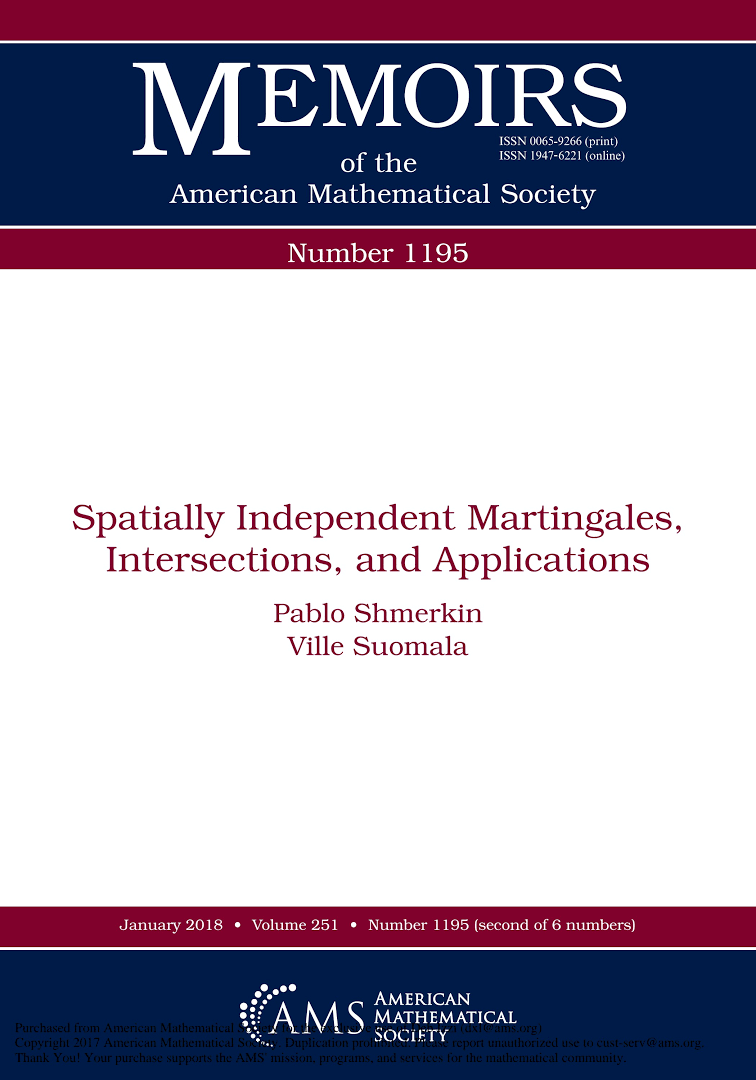 Shmerkin, Pablo ; Suomala, Ville. Spatially independent martingales intersections, and applications