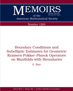 Boundary conditions and subelliptic estimates for geometric Kramers-Fokker-Planck operators on manifolds with boundaries