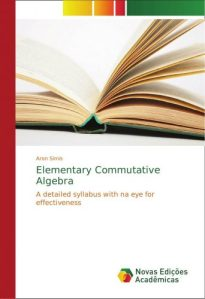 Elementary commutative algebra : (a detailed syllabus with an eye for effectiveness)