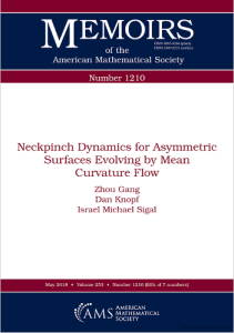 Neckpinch dynamics for asymmetric surfaces evolving by mean curvature flow