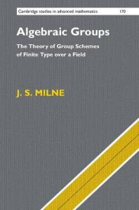 Algebraic groups : the theory of group schemes of finite type over a field