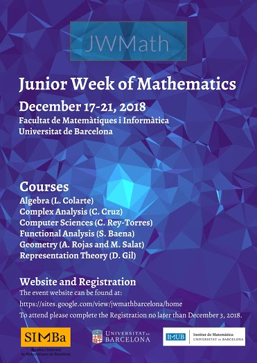 Junior Week of Mathematics 2018