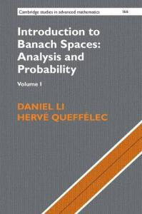 Introduction to Banach spaces : analysis and probability