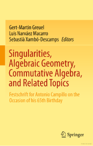 Singularities, Algebraic Geometry, Commutative Algebra, and Related Topics