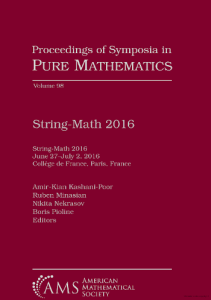 String-Math 2016 : June 27-July 2, 2016, Collège de France, Paris, France