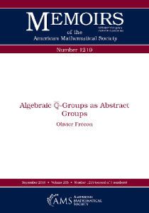 Algebraic q-groups as abstract groups