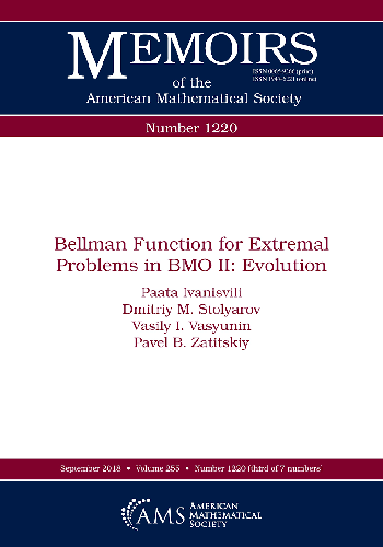 Bellman function for extremal problems in bmo ii : evolution
