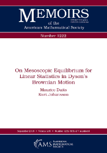 On mesoscopic equilibrium for linear statistics in dyson's brownian motion