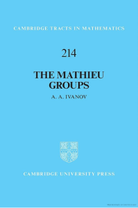 The Mathieu groups