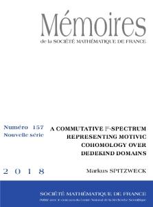 A commutative P¹-spectrum representing motivic cohomology over Dedekind domains