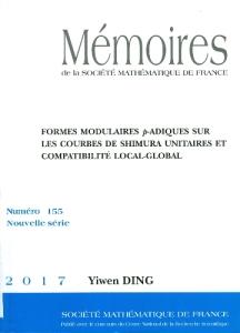 Formes modulaires p-adiques sur les courbes de shimura unitaires et compatibilite local-global