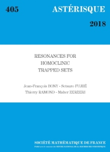 Resonances for homoclinic trapped sets