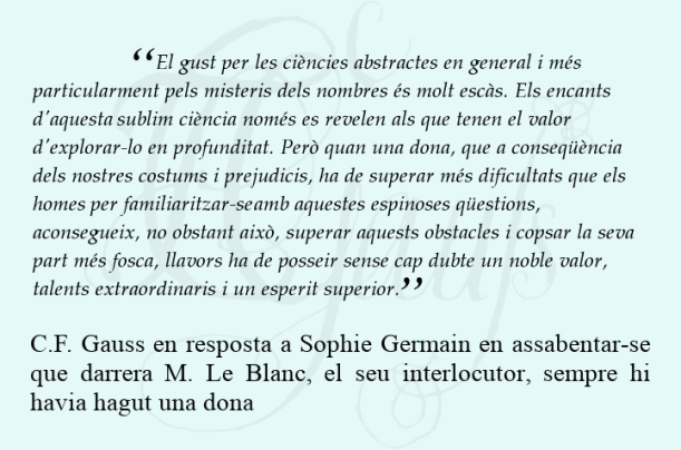 Carta de Gauss a Sophie Germain