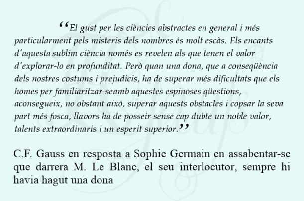 Carta de Gauss a Sophie Germain