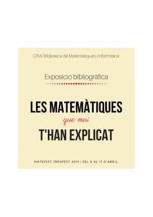 Bibliografia: Les matemàtiques que mai t'han explicat