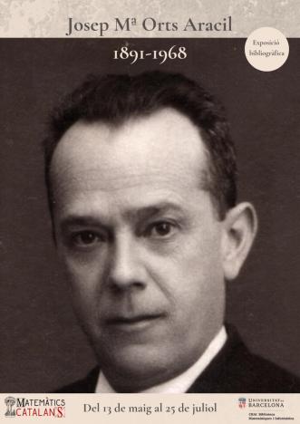 Cartell Josep Mª Orts Aracil 1891-1968 (3)