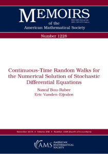 Continuous-time random walks for the numerical solution of stochastic differential equations