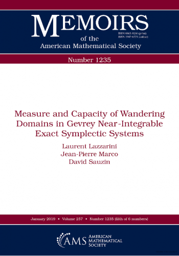 Measure and Capacity of Wandering Domains in Gevrey Near-Integrable Exact Symplectic Systems