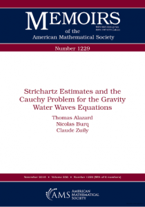 Strichartz estimates and the Cauchy problem for the gravity water waves equations