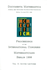 Proceedings of the International Congress of Mathematicians : Berlin 1998, August 18-27