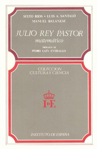 Julio Rey Pastor : matemático