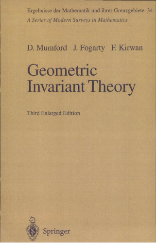 Geometric invariant. 2nd. enlarged ed