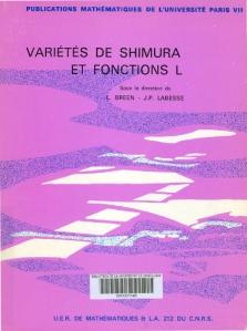 Varietés de Shimura et fonctions L