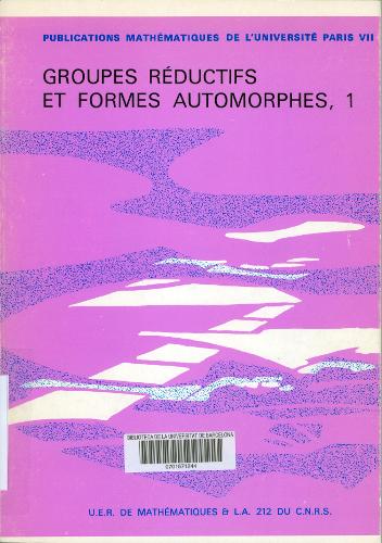Groupes réductifs et formes automorphes