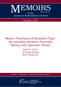 Matrix functions of bounded type : an interplay between function theory and operator theory