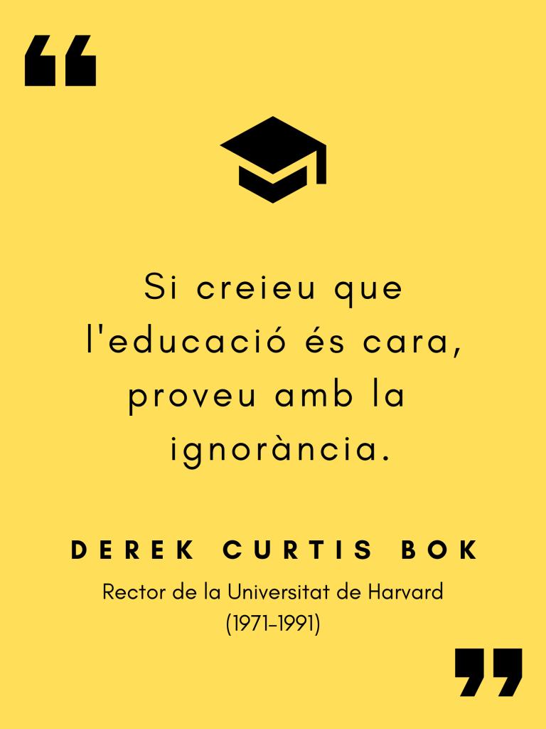 Aforismes (de confinament): Derek Curtis Bok