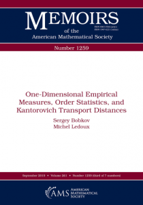 One-dimensional empirical measures, order statistics, and Kantorovich transport distances