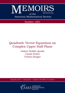 Quadratic vector equations on complex upper half-plane
