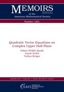 Quadratic vector equations on complex upper half-plane