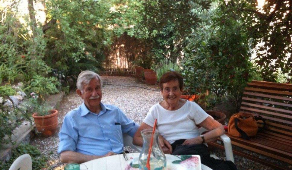 Josep Vaquer amb la seva dona, també matemàtica, Mercè Guilemany
